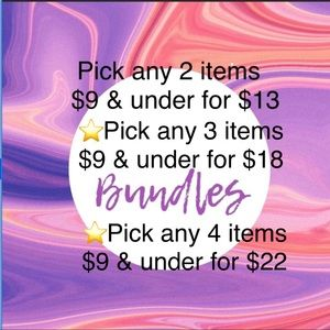 Add anything you like to a bundle and SAVE!